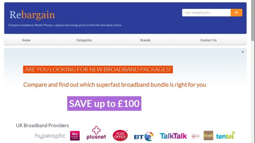 Rebargain-broadband-comparison website